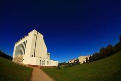 Ciel bleu de nature d'église Photo stock
