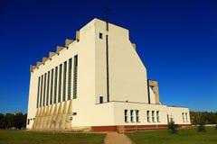 Ciel bleu de nature d'église Image stock
