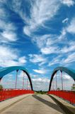 ciel bleu de passerelle dessous photographie stock libre de droits
