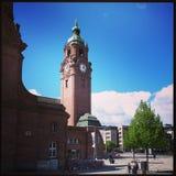 Ciel bleu de Trainstation Images libres de droits