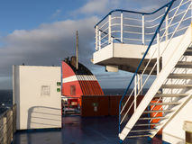 Ciel bleu en ferry d'entonnoir atlantique de pont Photo libre de droits