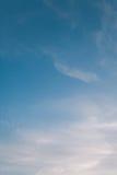 Ciel bleu en pastel Photo libre de droits
