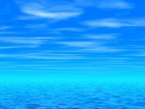 Ciel bleu et mer illustration de vecteur