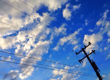 Ciel bleu et nuage Photos libres de droits