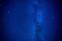 Ciel bleu-foncé de nuit Photographie stock