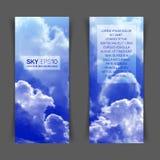 Ciel bleu réaliste Photographie stock