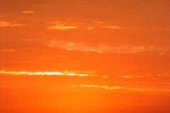 Ciel brûlant Photo libre de droits