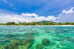 Ciel clair d'espace libre de mer Photographie stock