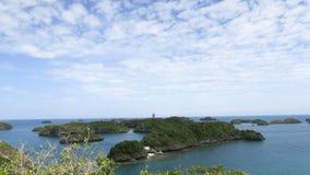 Ciel clair dans cent îles Photographie stock
