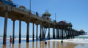 Ciel clair de Huntington Beach Photo libre de droits