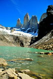 Ciel clair en Torres del Paine Image libre de droits