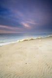 Ciel coloré à la plage Photographie stock