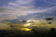 Ciel coloré au crépuscule Image libre de droits