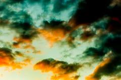 Ciel coloré par résumé Photographie stock