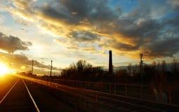 Ciel complètement des nuages de la ville de Straseni Image libre de droits