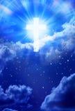 Ciel croisé Christian God de ciel Photo stock