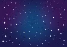 Ciel d'étoile de fond de vecteur Images stock