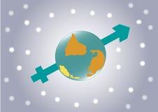 Ciel d'étoile de fond de vecteur, la terre, planète Photo libre de droits