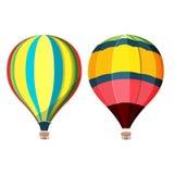 Ciel d'air chaud de ballon haut illustration stock