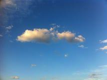 Ciel d'or de nuages Photo stock