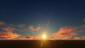 Ciel d'or de nuages Photos libres de droits