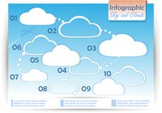 Ciel d'Infographics Photo stock