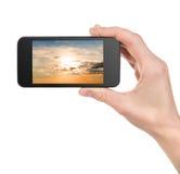 Ciel dans un téléphone Images libres de droits