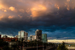 Ciel de Barcelone Photographie stock