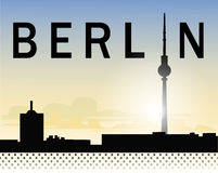 Ciel de Berlin Photographie stock libre de droits