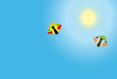 ciel de cerfs-volants Image stock