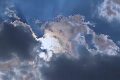 Ciel de ciel nuageux Images libres de droits