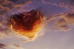 Ciel de coeur jpg Photographie stock