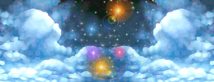 Ciel de conte de fées Photo libre de droits