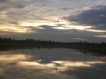 Ciel de coucher du soleil Images stock