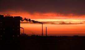 Ciel de coucher du soleil Photos stock