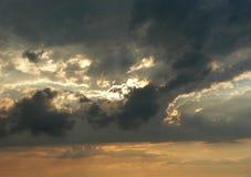 Ciel de coucher du soleil Photo stock