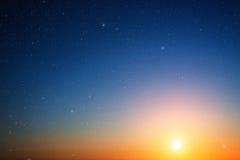 Ciel de coucher du soleil. Photographie stock