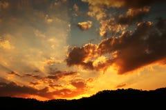 Ciel de coucher du soleil Image libre de droits