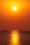 Ciel de coucher du soleil Photographie stock libre de droits