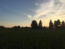 Ciel de coucher du soleil Image stock