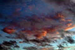 Ciel de coucher du soleil Images libres de droits