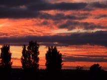 Ciel de coucher du soleil Photo libre de droits