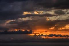 Ciel de coucher du soleil Photos libres de droits