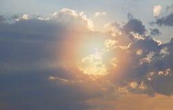 Ciel de coucher du soleil au-dessus de Bruce Peninsula Photo stock