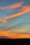 Ciel de coucher du soleil dans le Sussex Photos libres de droits
