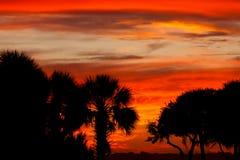 Ciel de coucher du soleil de la Caroline du Sud images libres de droits