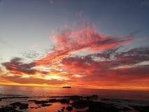Ciel de coucher du soleil glorieux photographie stock