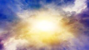 Ciel de coucher du soleil Route au coucher du soleil Fond excessif de nature Photo stock