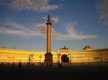 Ciel de coucher du soleil sur la rue - Pétersbourg Photographie stock