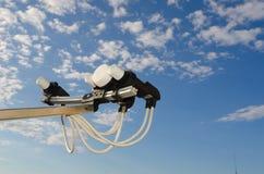 Ciel de garniture d'antenne de satellite Images stock